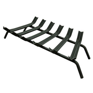 "30"" Wide Bar 1/2"" Steel V-Bar Fireplace Grate"