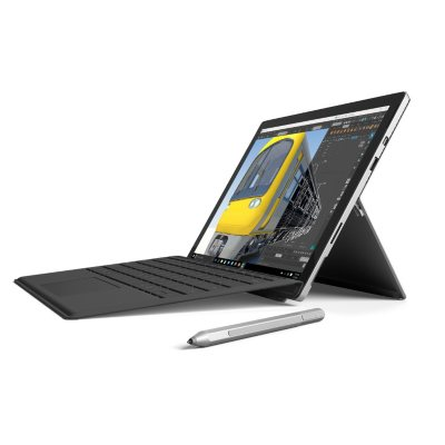 Surface Pro 4 Intel Core M, 128GB Bundle with Window 10 Pro, Silver Pen and Black Type Cover