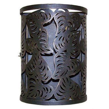Handcrafted Cut Leaf Iron Wall Lantern