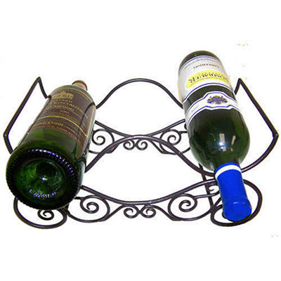 Handcrafted Scroll Wine Bottle Stand