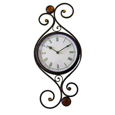 Handcrafted Iron Scroll Wall Clock