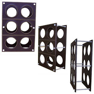 Six Bottle Handcrafted Wine Rack