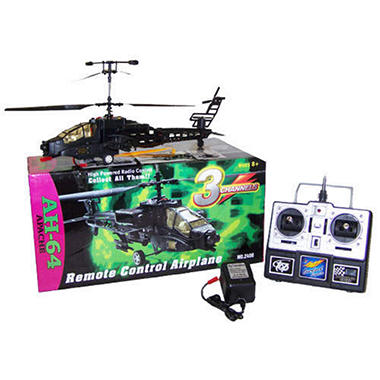 "15"" RC Apache Helicopter - Black"