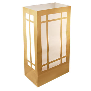 Luminaria and Gift Bags - Gold - 100 ct.
