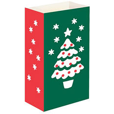 Luminaria and Gift Bags - Christmas Tree - 100 ct.