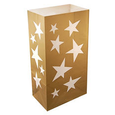 Flame Resistant Luminaria and Gift Bags - Stars - 100 ct.
