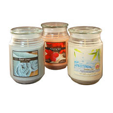 Fresh Collection Scented Candles - 18oz Apothecary Jar - Set of 3
