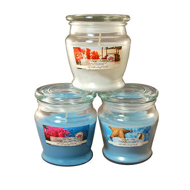 Fresh Collection Scented Candles - 8oz Tapered Jar - Set of 3