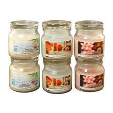 Fresh Collection Scented Candles - 2.5oz Apothecary Jar - Set of 6