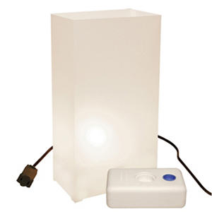 Electric Luminaria Lantern Kit with LumaBases - White - 10 ct.