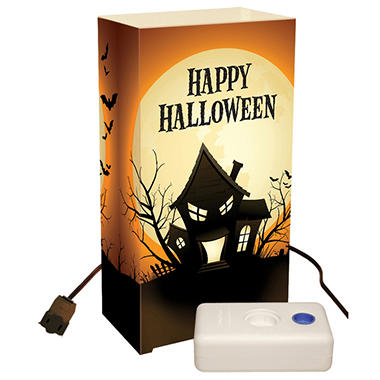 Electric Luminaria Lantern Kit with LumaBases - Haunted House - 10 ct.