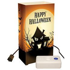 Electric Luminaria Lantern Kit with LumaBases - Haunted House - 10 ct.
