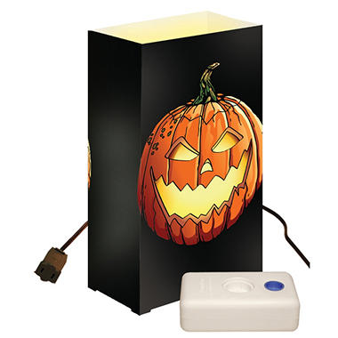 Electric Luminaria Kit with LumaBases - Jack O' Lantern - 10 ct.