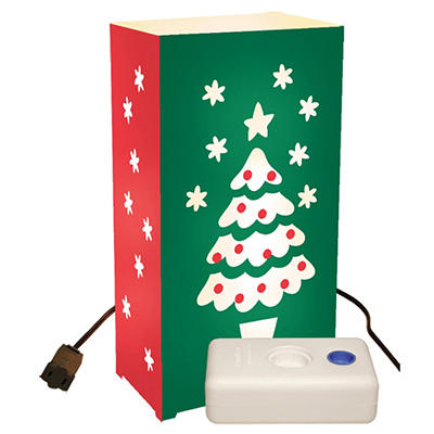 Electric Luminaria Kit with LumaBases - Christmas Tree - 10 ct.