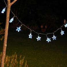 Multipurpose Solar Power String Lights, White Stars (30 Lights)