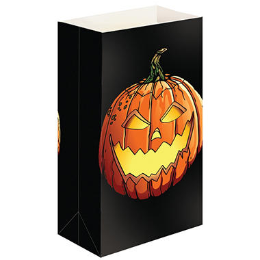 Flame Resistant Luminaria and Gift Bags - Jack O' Lantern - 12 ct.