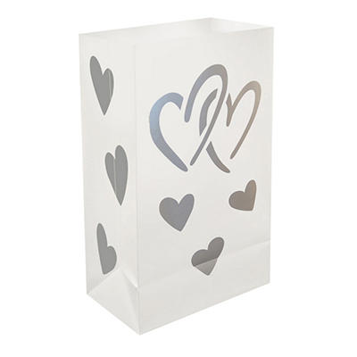 Plastic Luminaria Bags -12 Count (Choose Your Style)