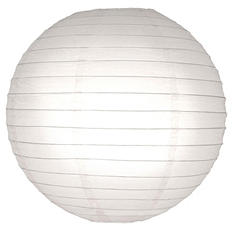 """10"""" Round Paper Lanterns - White - 5 ct."""