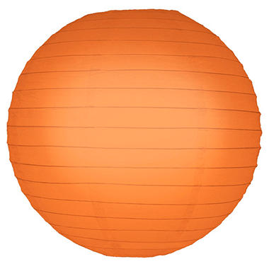 "10"" Round Paper Lanterns - Orange - 5 ct."