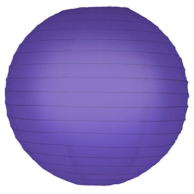 "10"" Round Paper Lanterns - Purple - 5 ct."