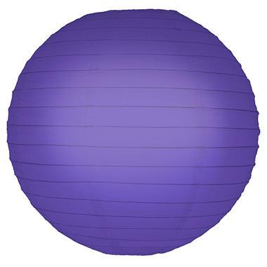 """10"""" Round Paper Lanterns - Purple - 5 ct."""