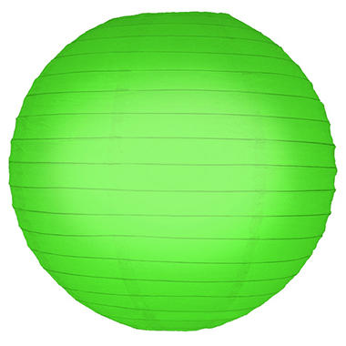 "10"" Round Paper Lanterns - Green - 5 ct."