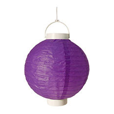 "8"" Battery Operated Paper Lanterns - Purple - 3 ct."