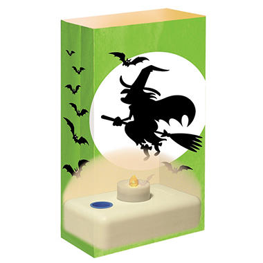 12-Count LumaBase LED Luminaria Kit - Witch