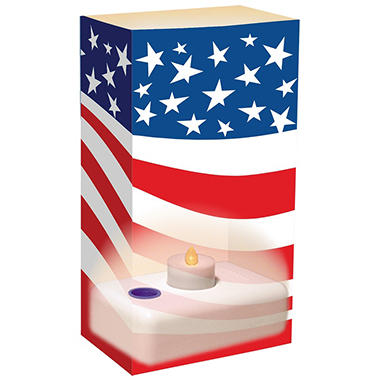 12-Count LumaBase LED Luminaria Kit - Americana