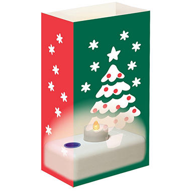12-Count LumaBase LED Luminaria Kit - Christmas Tree