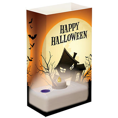 12-Count LumaBase LED Luminaria Kit - Haunted House