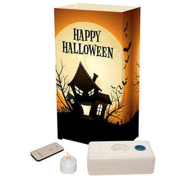 Remote Control LED Luminaria Kit- Haunted House10 Count