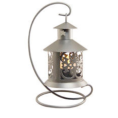 Metal Tabletop Lanterns, Silver (4 ct.)