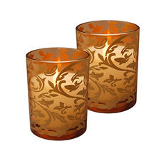Battery-Operated LED Candles, Jacquard Design (2 ct.)