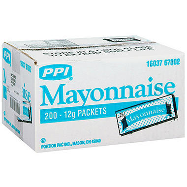 PPI® Mayonnaise - 200/12g packets