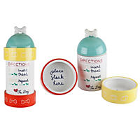 Housewares International Ann Was Here Directions Stacking Dog Treat Jar Set