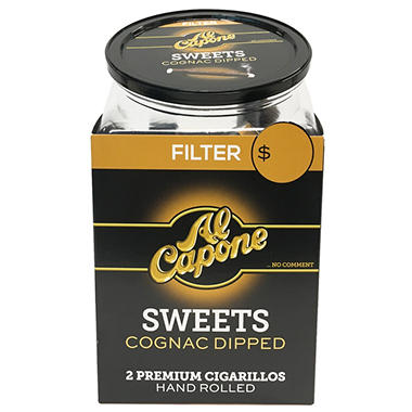 Al Capone Cognac Sweet Filtered Cigars - 120 ct.