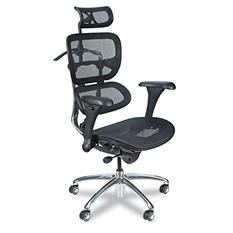 BALT Ergonomic Executive Butterfly Mesh Chair, Black