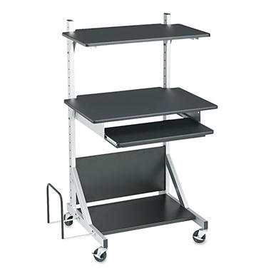 Balt - Fully-Adjustable Mobile Workstation, 30 x 24 x 52, Black