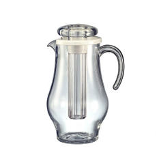 Acrylic 2.4 liters Pitcher w/Ice Tube
