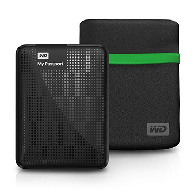 WD My Passport 1TB Portable Hard Drive with Case