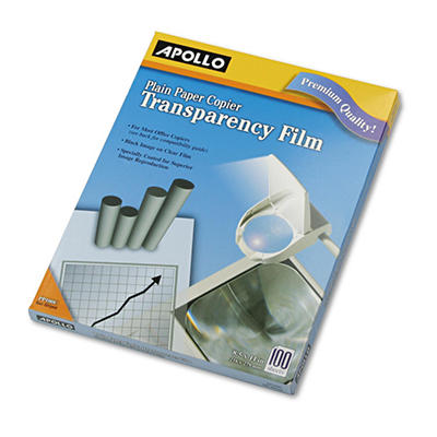 Apollo - Laser Copier Transparency Film, Letter, Clear - 100/Box