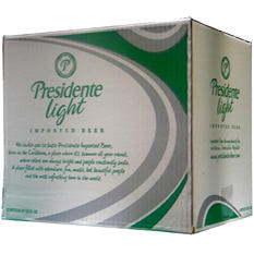 Presidente Light (22 fl. oz. bottles, 12 pk.) - Puerto Rico