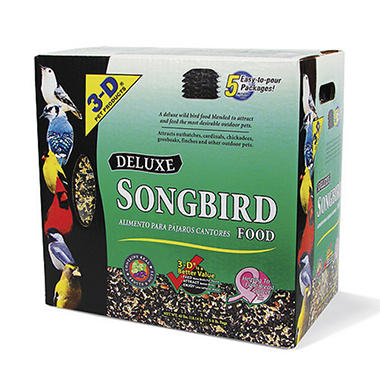 3-D Pet Products Deluxe Songbird Food 40lb