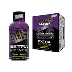 5-Hour Energy Extra Strength Grape Flavor, 1.93 oz. (24 pk.)