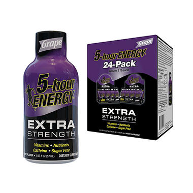 5-Hour Energy Extra Strength - Grape - 1.93 oz. - 24 pk.