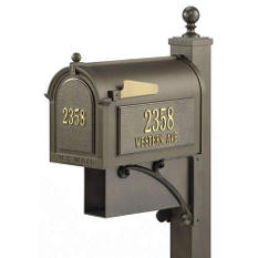 Ultimate Mailbox & Post Package - French Bronze