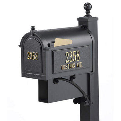 Ultimate Mailbox & Post Package - Black