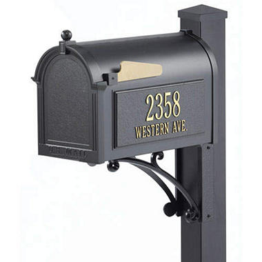 Superior Mailbox & Post Package - Black