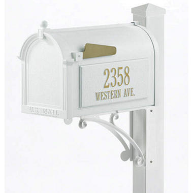Superior Mailbox & Post Package - White